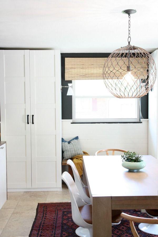 wardrobe Pax units, Bergsbo doors; both from Ikea for