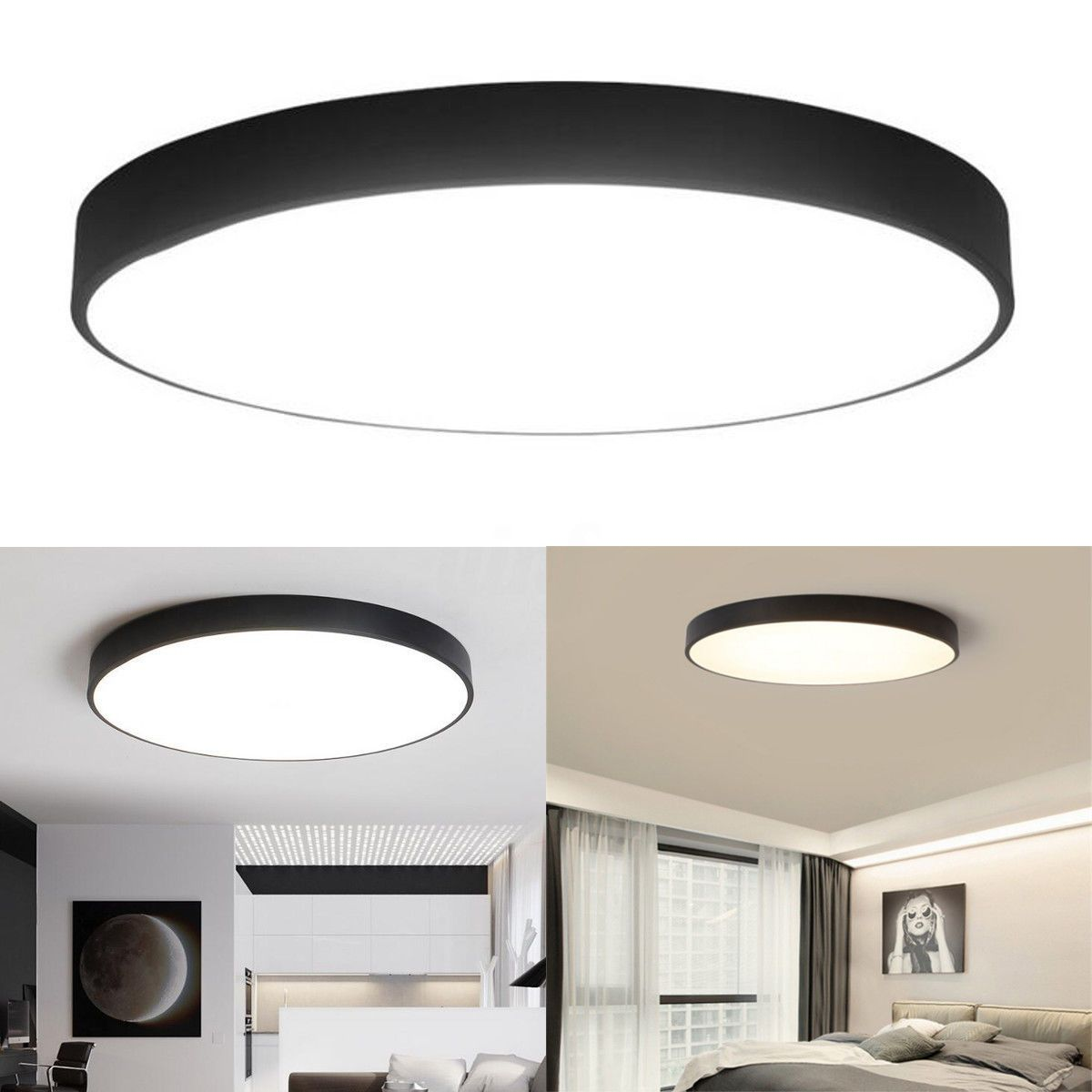 Modern Led Round Ceiling Lamp Light Fixture Home Bedroom Decoration 5cm Thick Bedroom Ceiling Light Led Ceiling Lights Ceiling Lights