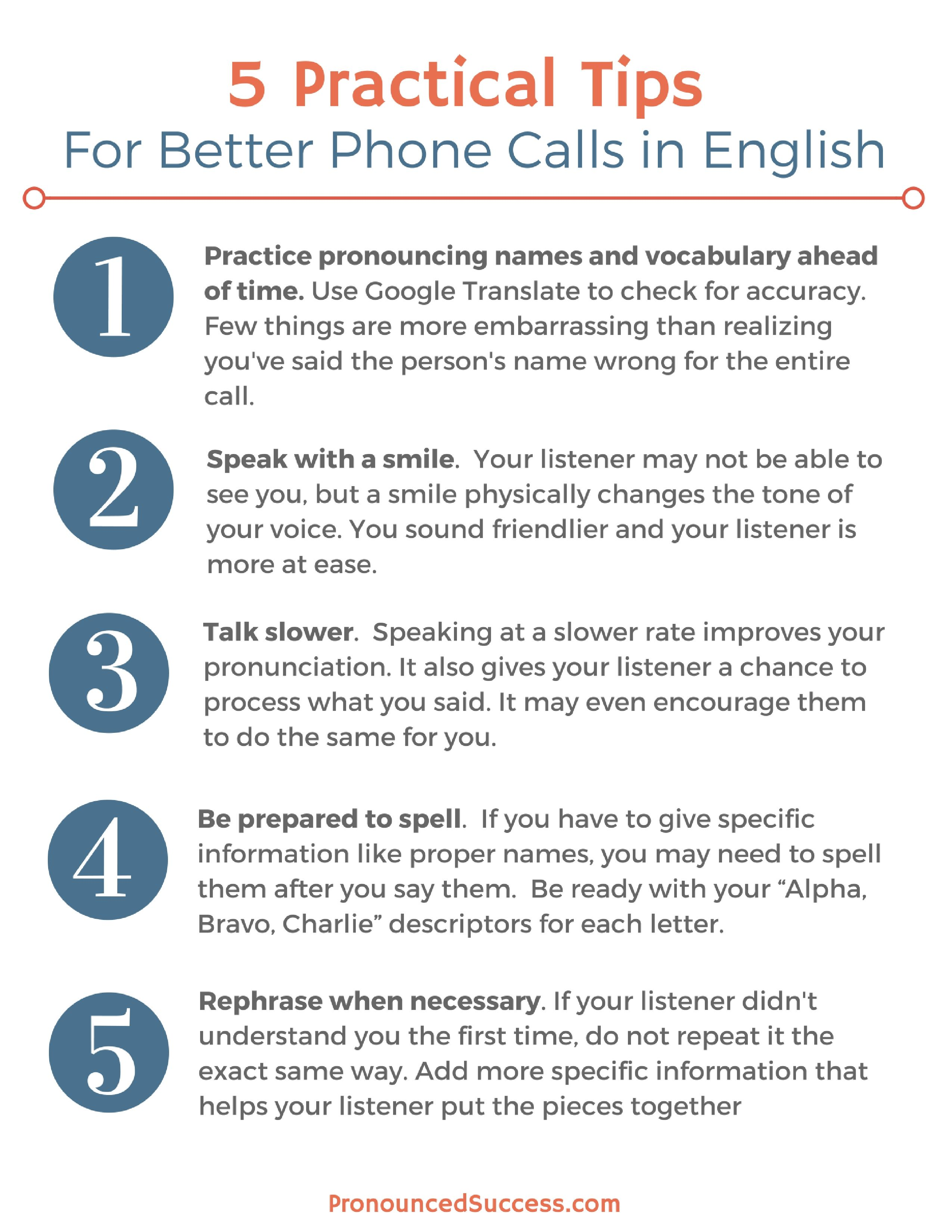 What You Need To Know To Be Understood On The Phone In