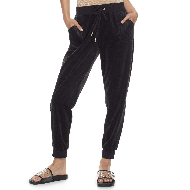 817887e89e5 Women s Juicy Couture Solid Velour Midrise Jogger Pants