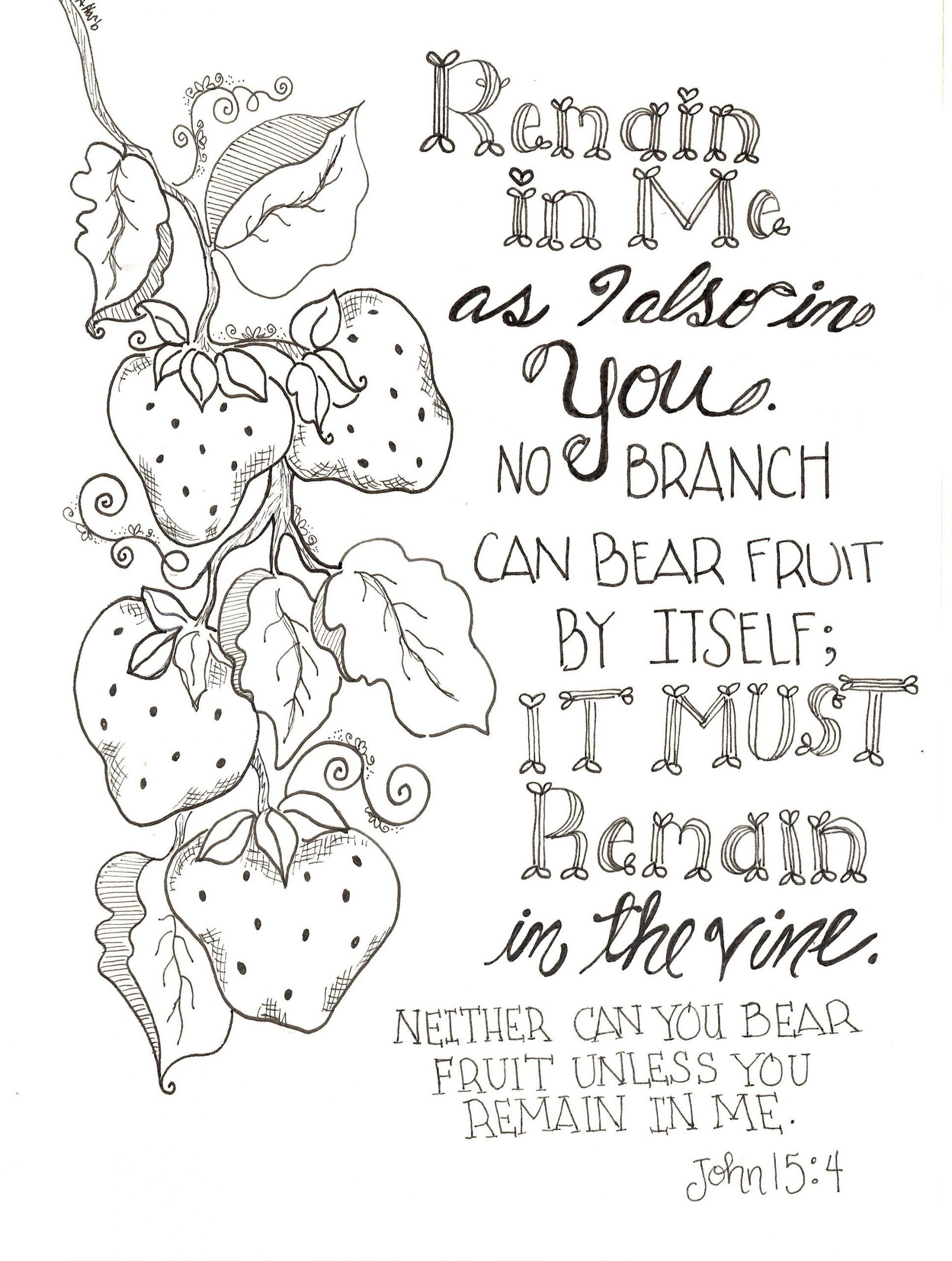 Free Scripture Coloring Pages Free Inspirational Remain In