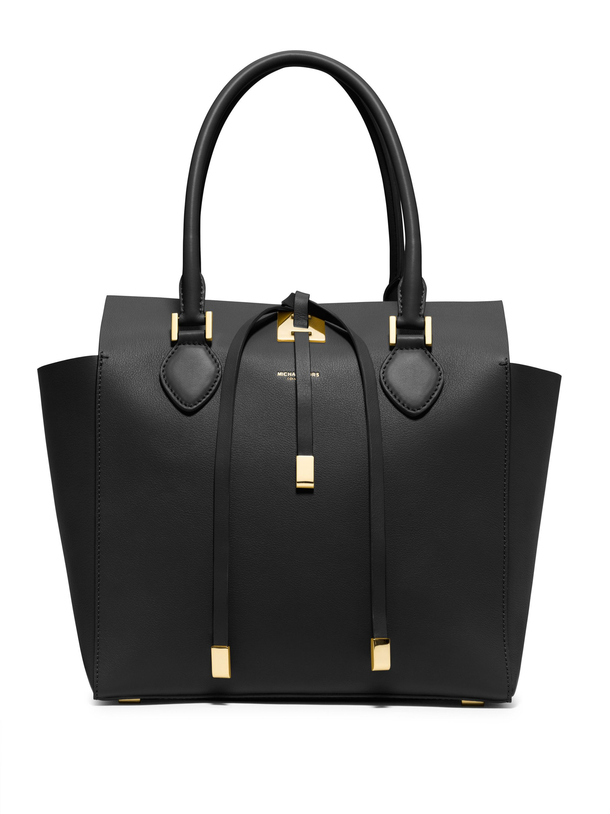074303f30dc1 Michael kors Miranda Medium Tote in Black | LEATHER TOTES ...