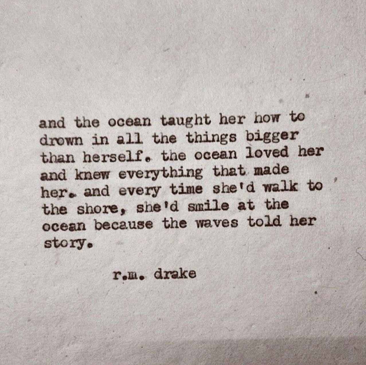 the ocean loved her