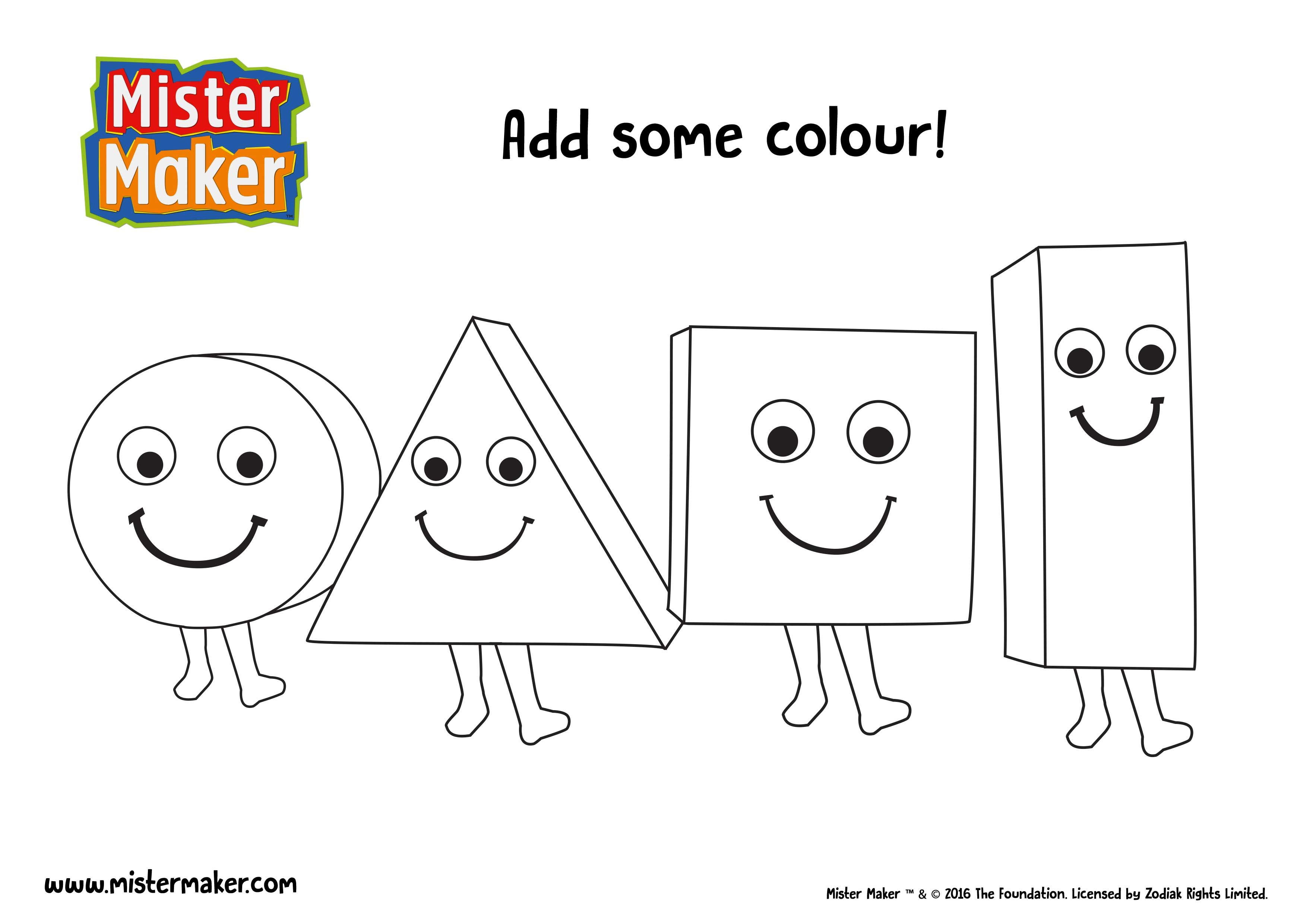 Free Coloring Pages Of Mister Maker