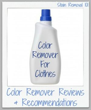 how to remove dye run from clothes