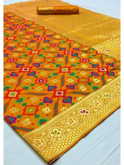 Photo of Grab and Pack Traditional Multi Colored Pure Silk Wedding Saree –