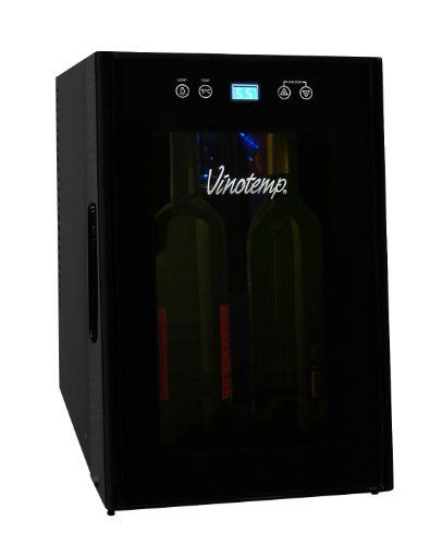 Vinotemp VT-8TEDTS-ID 8-Bottle Thermoelectric Wine Cooler, Black by Vinotemp. $178.98. Vinotemp International, a leader in the wine storage industry, has been building premium wine cabinets for over 20 years. Vinotemp is a full-service manufacturer of custom wood wine cabinets and racking, Wine-Mate cooling systems, and a distributor of quality metal wine cellars. Vinotemp offers everything from inexpensive countertop coolers to exotic commercial wood cabinets found at...