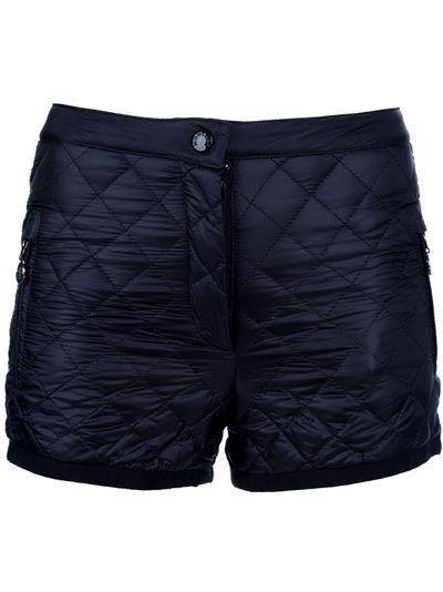 Black · Moncler. Black padded shorts
