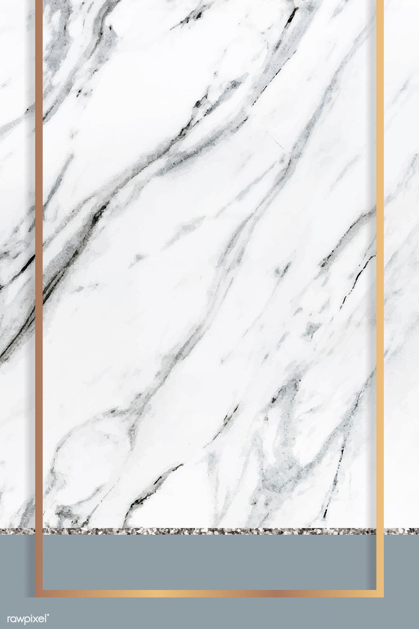 Download Premium Vector Of Golden Frame On White Marble Textured