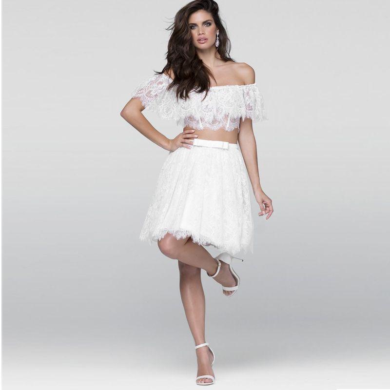 Juniors Formal Dresses Short Two Piece