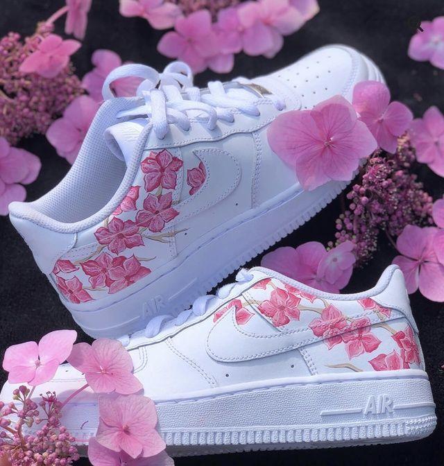 Fleur de la AF1 - Blossom AF1 Fleur de la AF1 | White nike shoes ...