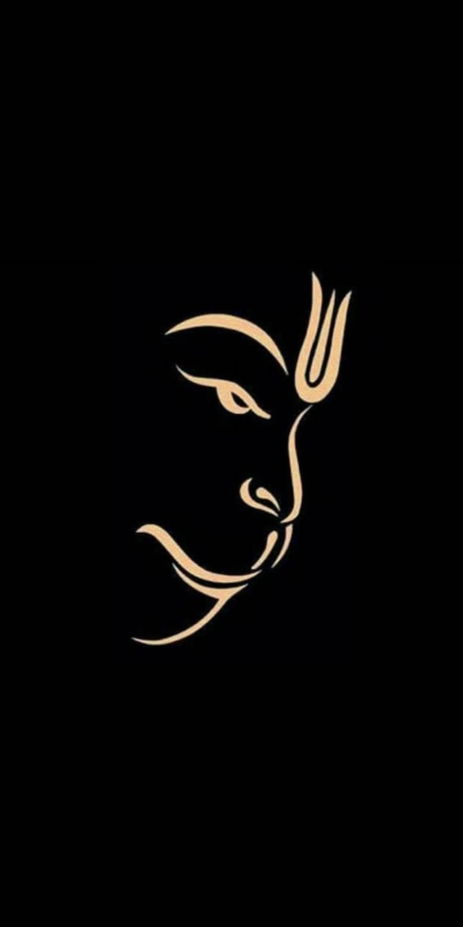 Black High Quality Hanuman Wallpaper Hd
