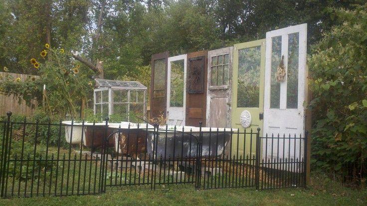Repurposed Outdoor Privacy Fence Old Doors Hubby With