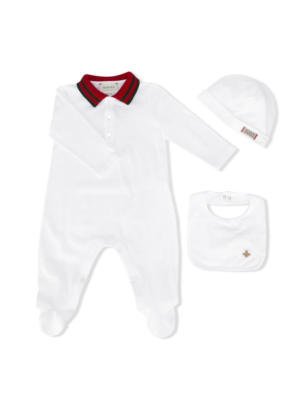 6a26557d0 Gucci Kids contrast collar pyjama set - White | Baby Fevor | Gucci ...