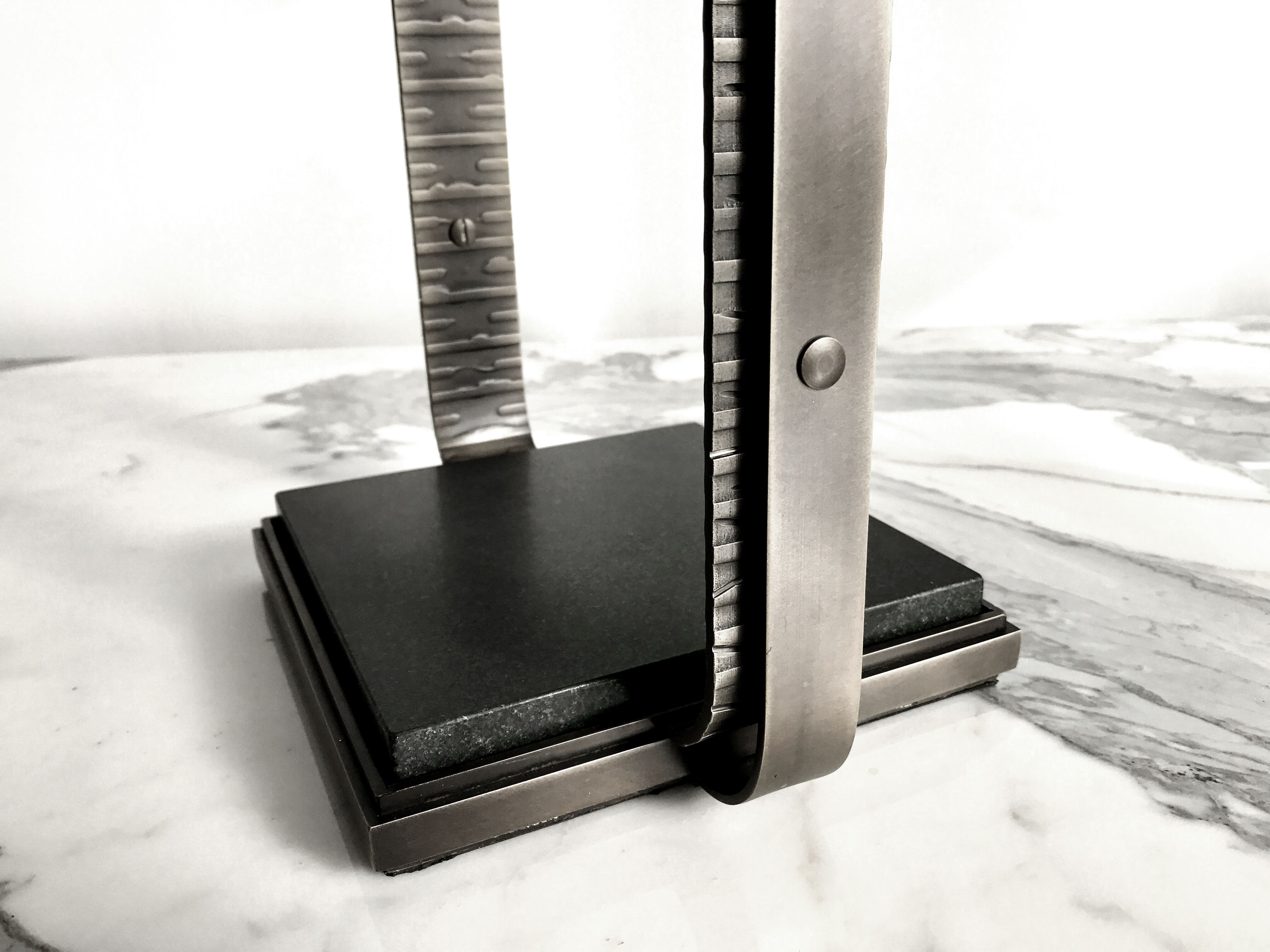 Number One Cigar Ashtray Black Absolute Marble Chrome And Black Absolute Marble Cigar Ashtray Modern Luxury Chrome