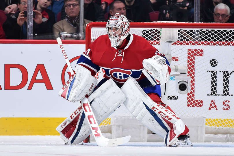 Montreal Qc December 10 Carey Price 31 Of The Montreal Canadiens Looks On As He Protects His Net During The Nhl Game Against The Colo With Images Nhl Goalie Canadiens