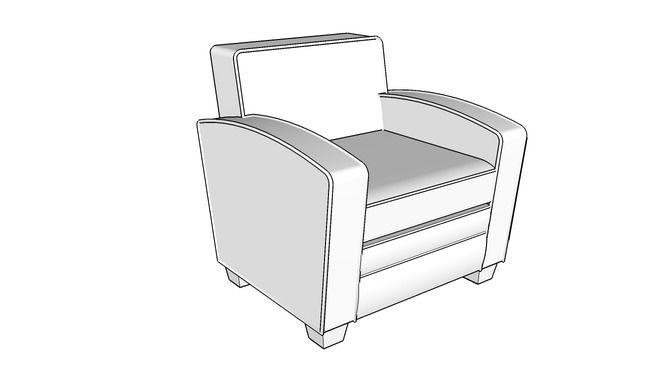Addin Leather Chair - 3D Warehouse