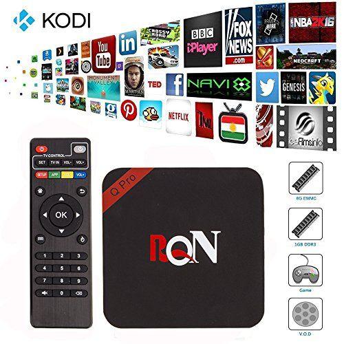 RQN Android Tv Box Q Pro Kodi(xbmc) Fully Loaded 1080p Quad Core