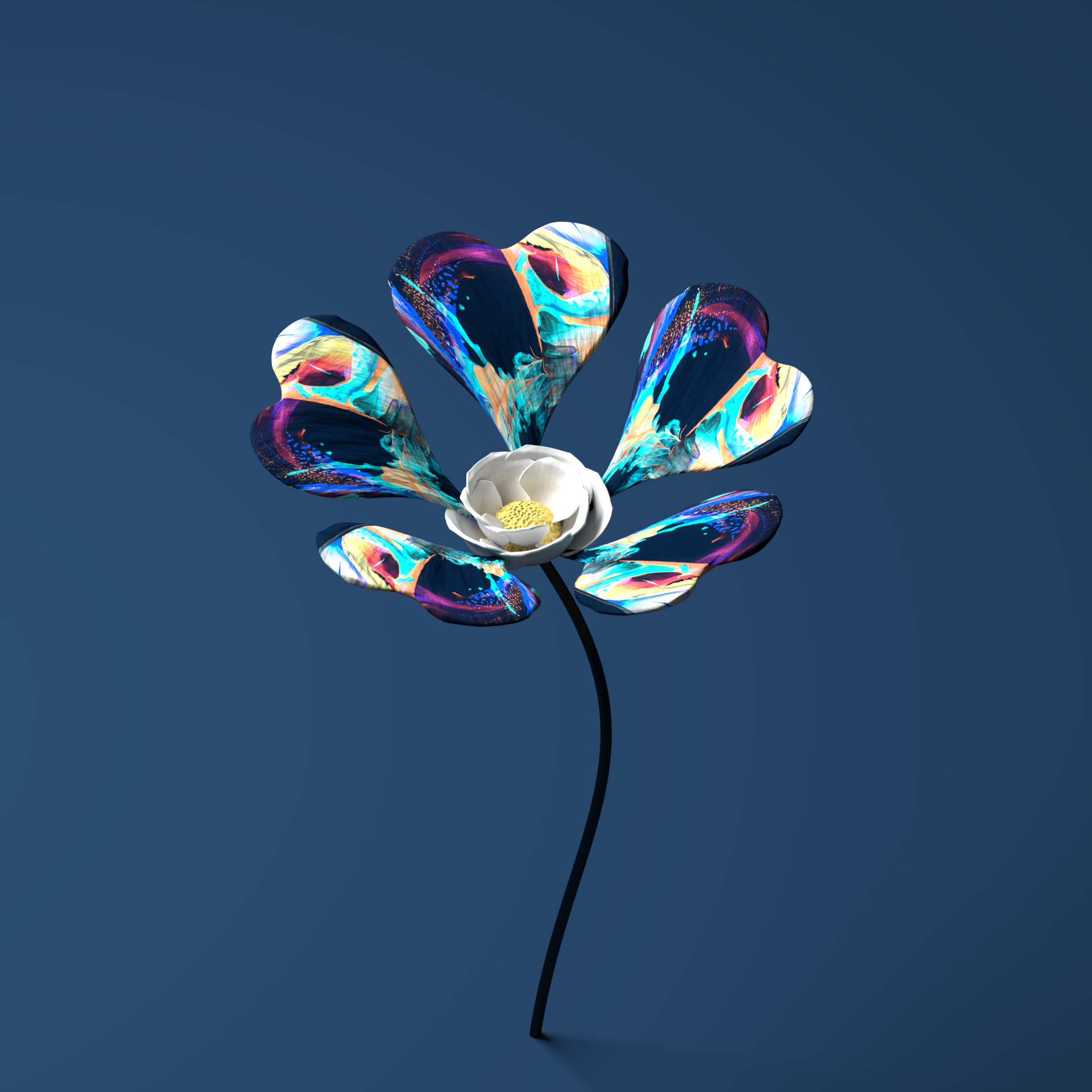 3D Art by reddit user: henrybacon A very Zawada/Flume vibe