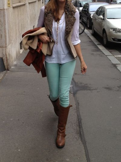 mint skinny jeans- have them and love!