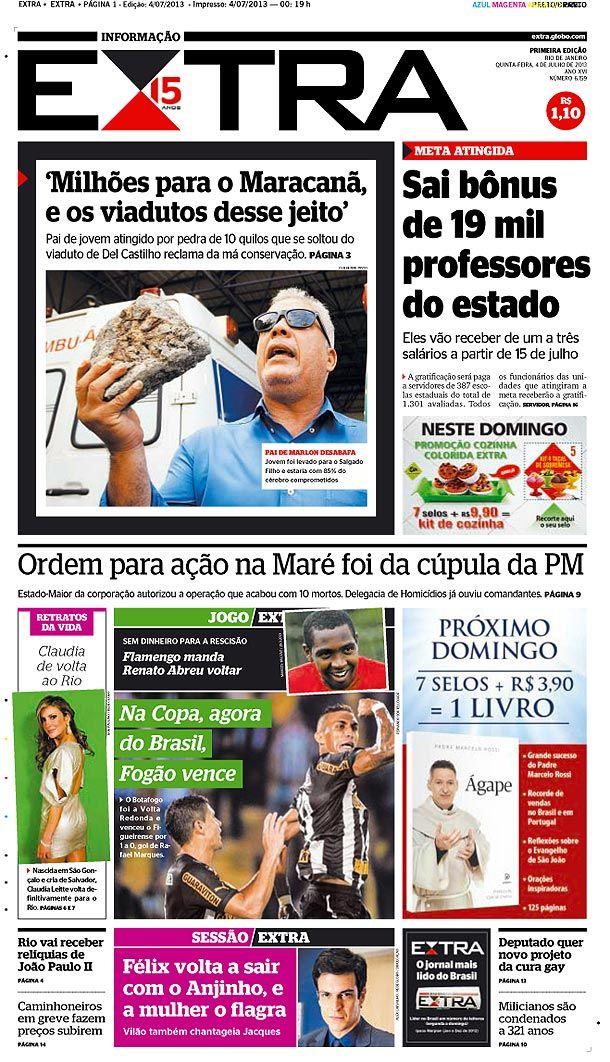 #jornalExtra 04-07-2013