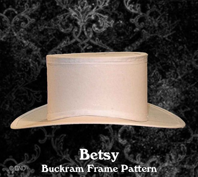 Betsy Buckram Frame Hat Pattern from Denise Nadine tutorials