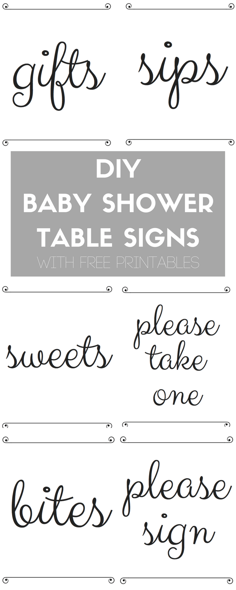 photo regarding Baby Shower Printable named Pin upon Easiest of The Blog site