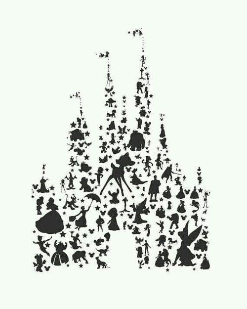 Cartoon Castle Classic Disney Drawing Illustration Mickeymouse Movie Peterpan Pixar Princess Tinkerbell Waltdisney White Winniethepooh