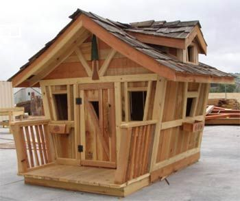Whimsical outdoor playhouse unrivalled aesthetic appeal for Whimsical playhouse blueprints