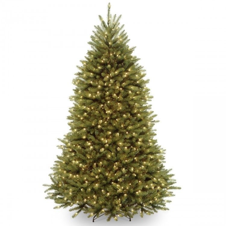 Pre-lit Christmas Tree 65-foot Fir with Metal Stand Green 650 Bulb
