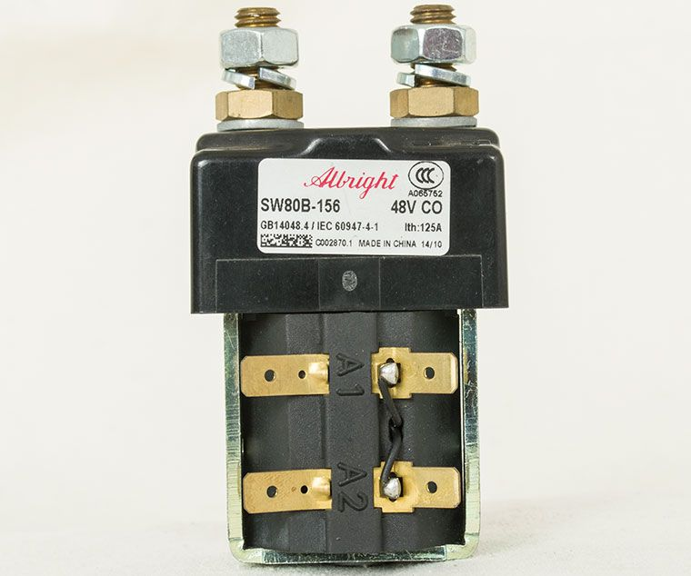 Albright Curtis Dc Contactor With Magnetic Blowout Sw80b 156 48v 125a Forklift Parts And Accessories Repair