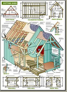 Garden Sheds Georgia details potting shed plan | shed plans | pinterest | farm projects