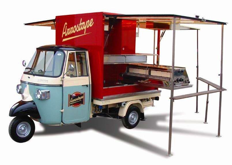 Ecco L Arrostape Dedicata All Arrosticino Da Street Food Diseño De Camiones De Comida Carritos De Café Camión De Comida