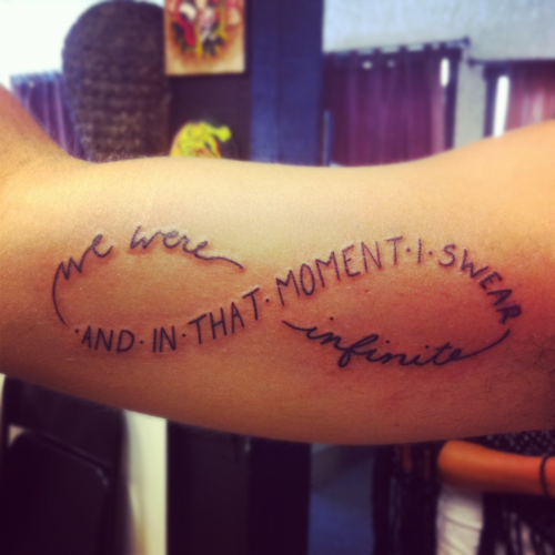 Perks Of Being A Wallflower Tattoo.