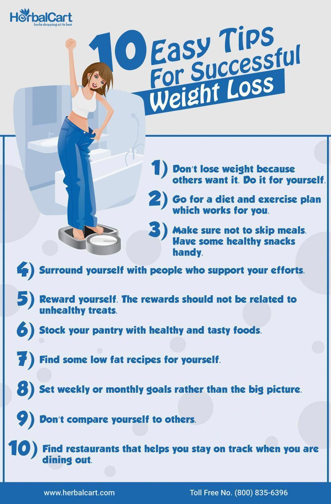Easy Tips For Successful Weight Loss: Don't lose weight because other want it. Do it for yourself....