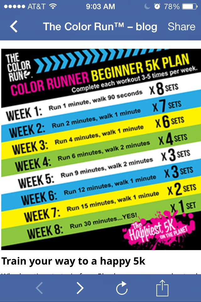 Train for 5k Color Run! @Ashley Walters Walters Walters Walters Speck