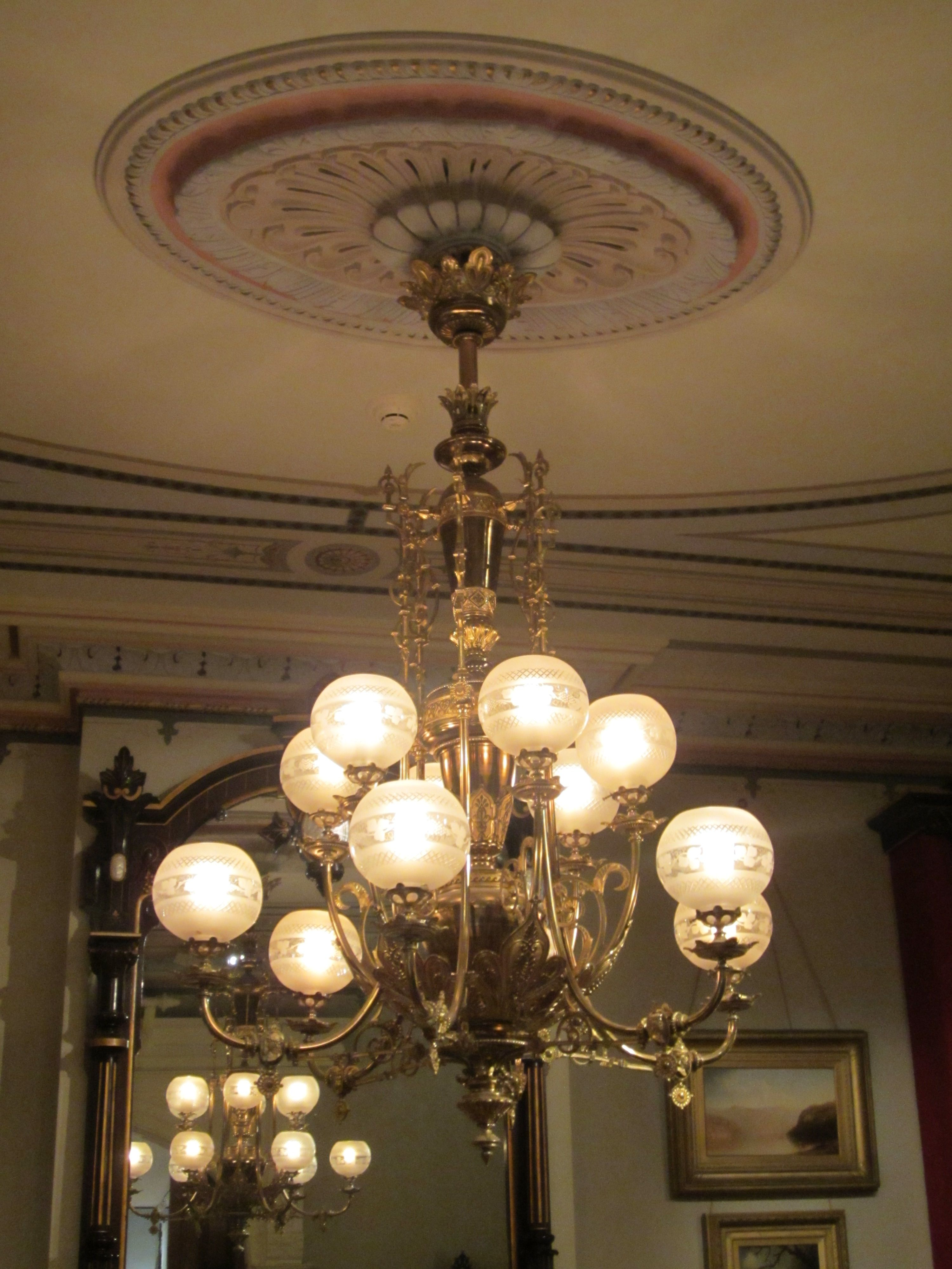 Lovely Victorian Gaslight Chandelier In 2019 Antique