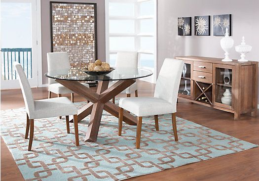 Picture Of City Villa Driftwood 5Pc Round Dining Room From Dining Gorgeous Rooms To Go Dining Room Set Design Ideas
