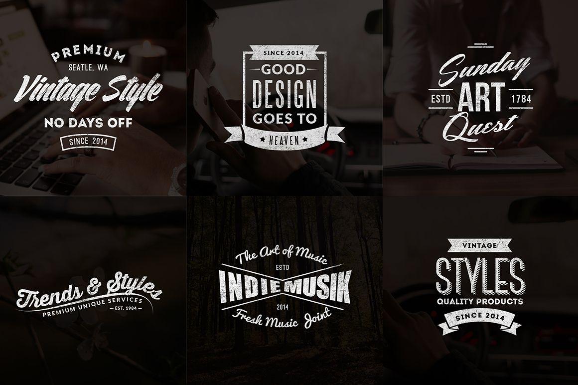 vintage logos labels templates preview logo design