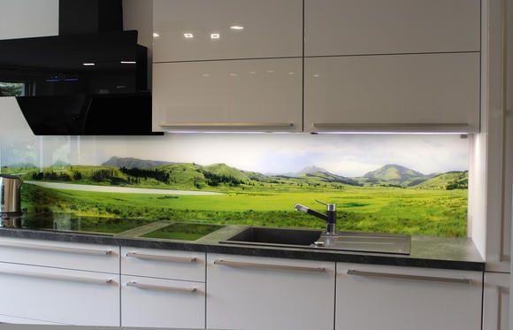 Echtglas Panoramabild als Wandbild oder Küchenrückwand bis 3 Meter ...