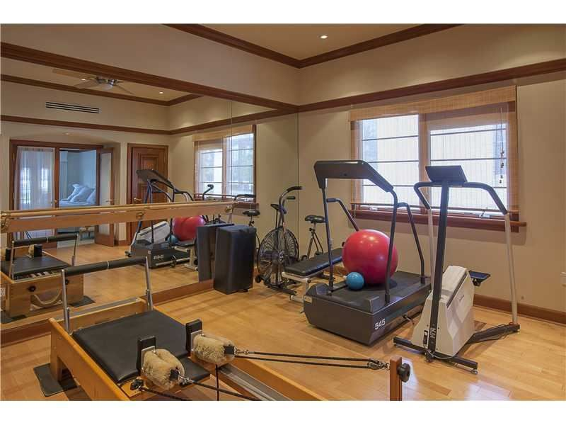 This Home Gym Has Its Own Pilates Equipment Cool Miami Beach Fl Coldwell Banker Residential Real Estate Cool Room Designs At Home Gym Cool Rooms