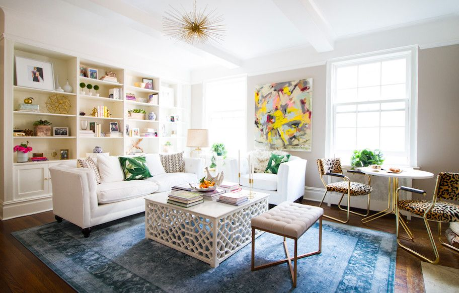 a classic nyc apartment receives an all out glam update via e design