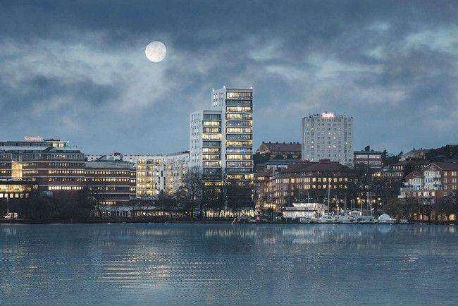 Alvik Tower, Alvik Tower by C. F. Moller Architects, Alvik Tower Stockholm, C.F. Møller Architects - http://architectism.com/alvik-tower-by-c-f-moller-architects/