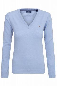 GANT Lambswool Blend V Neck Sweater Damen Pullover