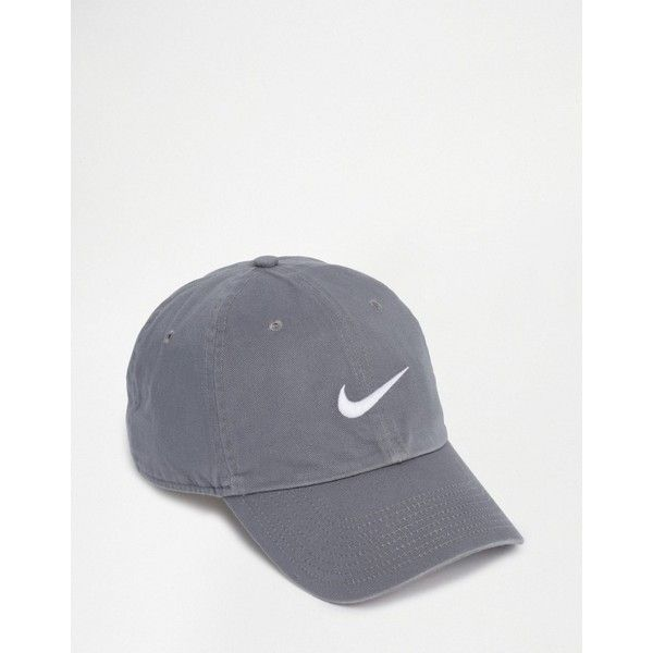 Nike Swoosh Cap In Grey 546126-065 ( 17) ❤ liked on Polyvore featuring  men s fashion ec0301785b0