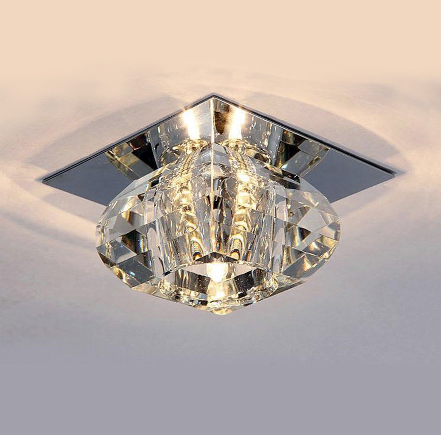 Modern Crystal LED Ceiling Light Pendant Lamp Fixture Lighting