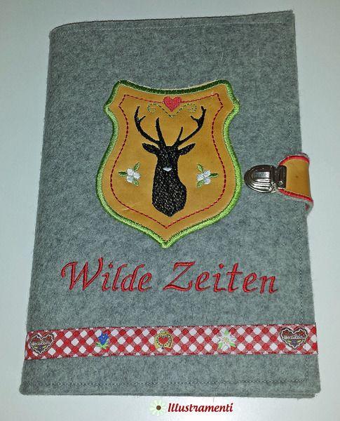 "Kalender 2015""Wild"" bestickt.Filzcover+Lederappli. von Illustramenti - Nadelmalerei - Embroidery auf DaWanda.com"