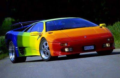 Multicoloured Lambo Strange Yet Interesting Lamborghini Diablo