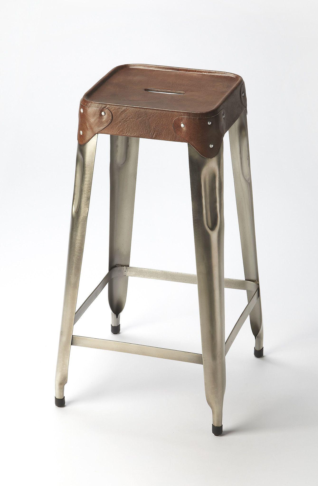 Buy Butler Furniture But 6134344 Connor Industrial Modern Barstool Medium Brown Modern Bar Stools Bar Stools Futuristic Furniture