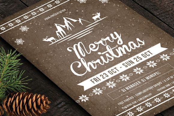 Christmas Party Retro Flyer\/Poster @creativework247 Flyer - retro flyer templates